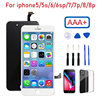 AAA+ For iPhone 6 6s 7 8 Plus LCD Display Touch Replacement For iPhone 5 5s lcd screen No Dead Pixel+Tempered Glass+Tools+TPU