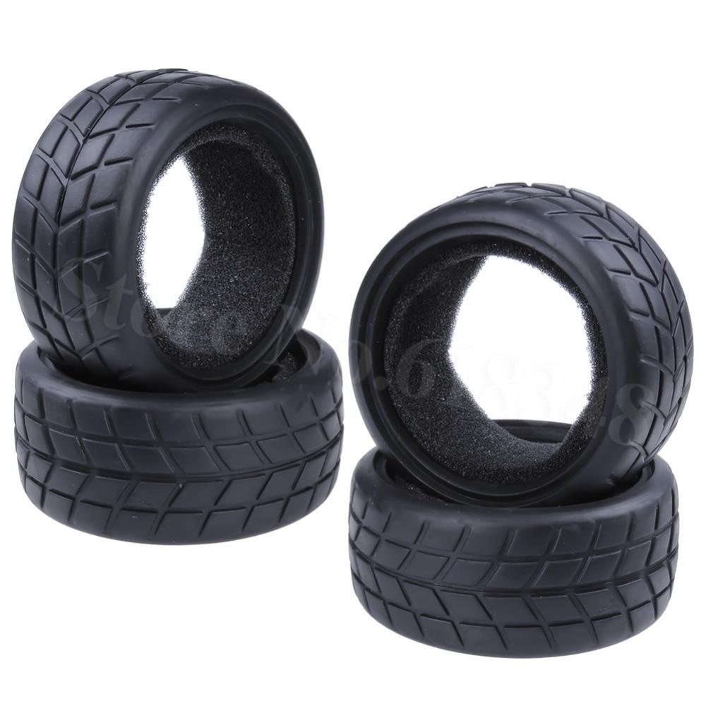 RC 1//10 On-Road Racing Car Foam Rubber Tyre Tires Wheels Rims FIT HSP HPI Redcat