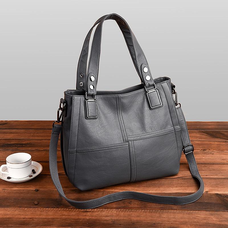 Large Capacity Women's Genuine Leather Handbag Fashion Women Bags Patchwork Shoulder Crossbody Bags Messenger Bag