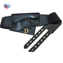 Nuleez cummerbunds women D copper real leather cowhide fashion style accessory belt women