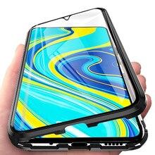 Dành Cho Xiaomi Redmi Note 9 S 2 Mặt Kính Trường Hợp Trên Nồi Cơm Điện Từ Redmi Note 9 S Not9 Note9s Từ Tính kim Loại Ốp Lưng Bao Coque