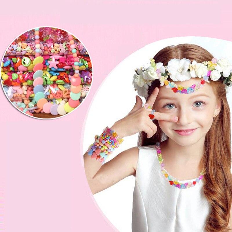 24 Grid Children's Educational Beaded Toy DIY Handmade Multicolored Maca Beaded Set Girl Beaded Pacifier String Beads Decoration