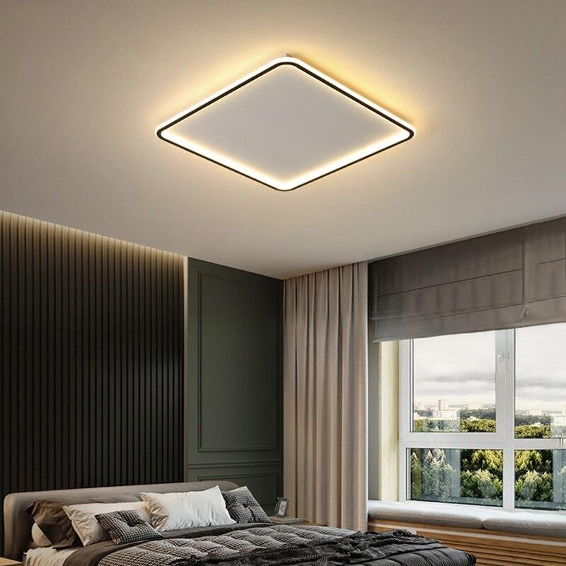 lowest price Modern Led Ceiling Light 42W Black Ceiling Lamp For Bedroom Living room Dining room Kitchen Foyer Lighting Fixtures 110V 220V