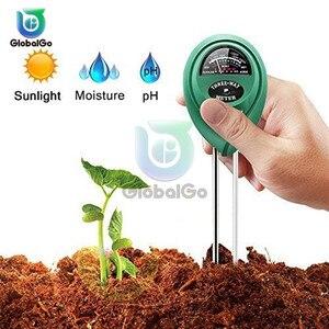Medidor de umidade e ph da água do solo 3 em 1, instrumento de teste de ph da água e umidade para plantas do jardim, teste de ph da luz solar