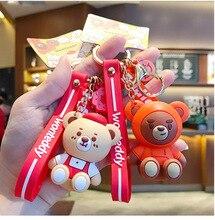 Couple Keychain Bag Pendant Key Chain Gift Keyring Drop Glue Cute Teddy Doll Cute for Girls Silicone Mood Tracker Animal Lovers' cute cartoon style couple lovers keychain silver pair