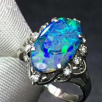 Opal Rings Fine Jewelry Pt900 Gold 100% Natural Australia Opal Gemstone 2.44ct Gold Diamonds Stone Female Ring for Women Rings