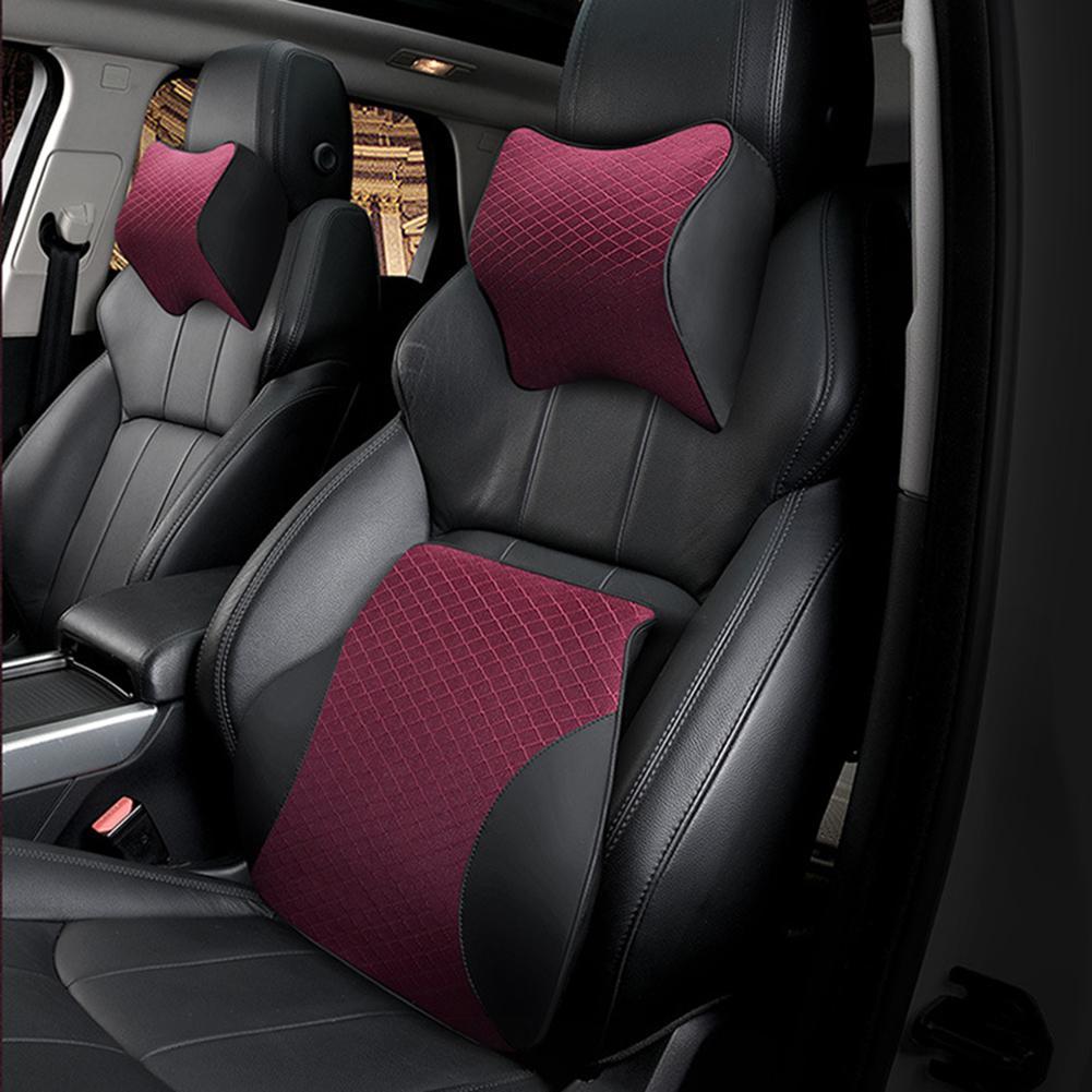 Space Memory Foam Car Lumbar Support Auto Neck Pillow Headrest Head Restraint