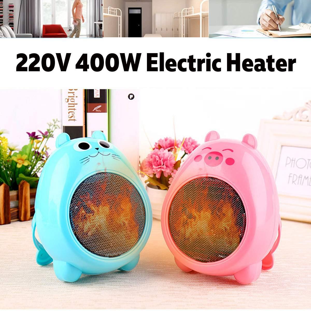 400W Mini Electric Heater Mini Fan Heater Portable Desktop Household Office Handy Heating Stove Radiator Warmer Machine Winter