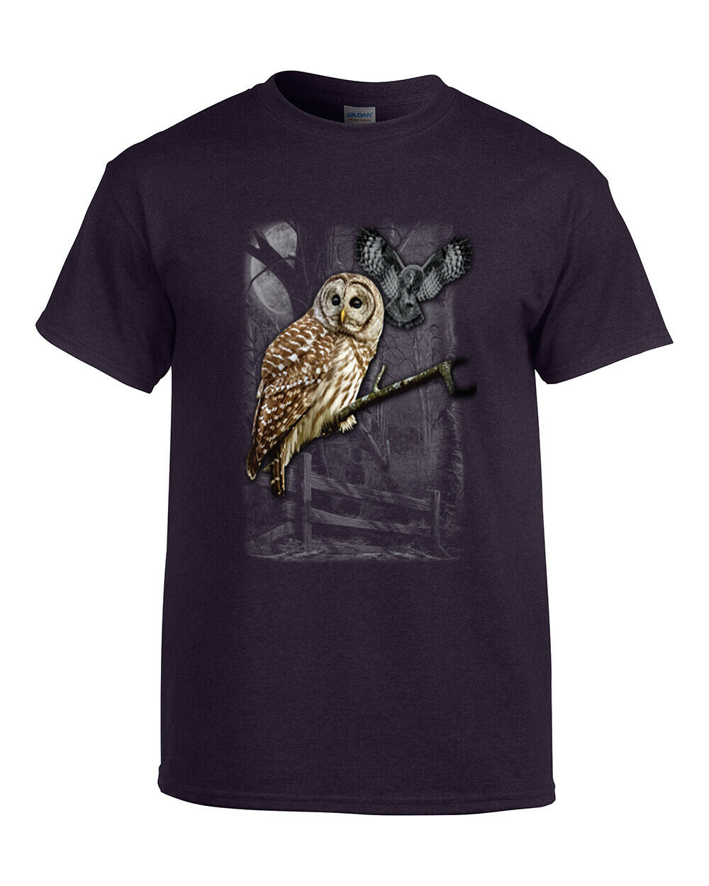 Owl <font><b>Wilderness</b></font> Adult <font><b>T</b></font> <font><b>Shirt</b></font> image