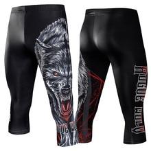 Компрессионные Леггинсы наколенники Мужские Беговые брюки тренажерный зал фитнесс Спортивная одежда для бега тренировочные штаны для йоги мужские укороченные брюки