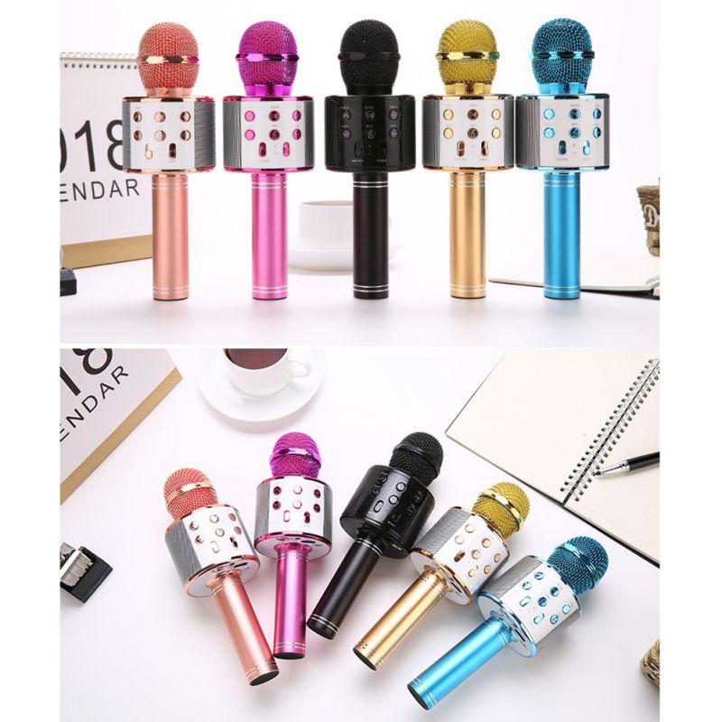 Professional Bluetooth Wireless Microphone Karaoke Speaker KTV Music Player Singing Recorder Handheld Microphone Mic 1200Mah