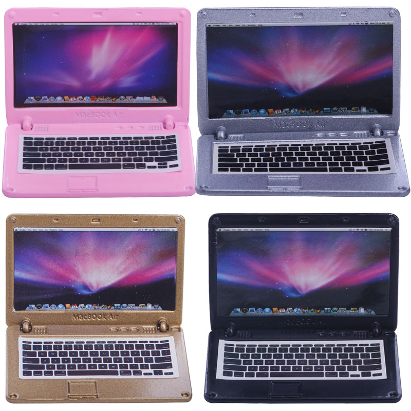 Doll Accessories 5 Inch Laptops In Four Styles, Suitable For Kids With Christmas Toys And Birthday Gifts