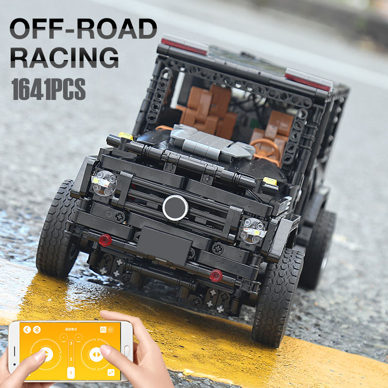 New APP RC G-Glass G500 AWD Wagon SUV Vehicle Fit Technic MOC 2425 Motor Power Function Building Blocks Bricks Toy Kid Birthday 3