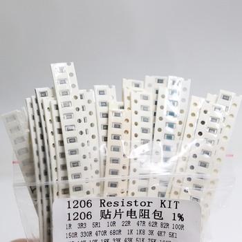 1206 SMD Resistor Kit Assorted Kit 1ohm-1M ohm 1% 33valuesX 20pcs=660pcs Sample Kit 5