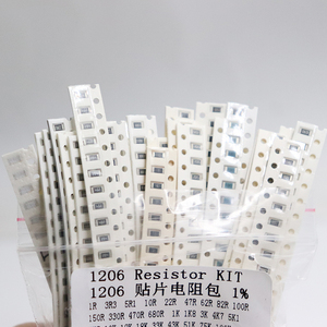 Image 5 - 1206 Smd Weerstand Kit Diverse Kit 1ohm 1M Ohm 1% 33 Valuesx 20 Pcs = 660 Pcs Sample Kit