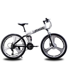 Can be folded Double shock absorption system bicycle high configuration disc brake 24/26 inch 21/24/27 speed стоимость