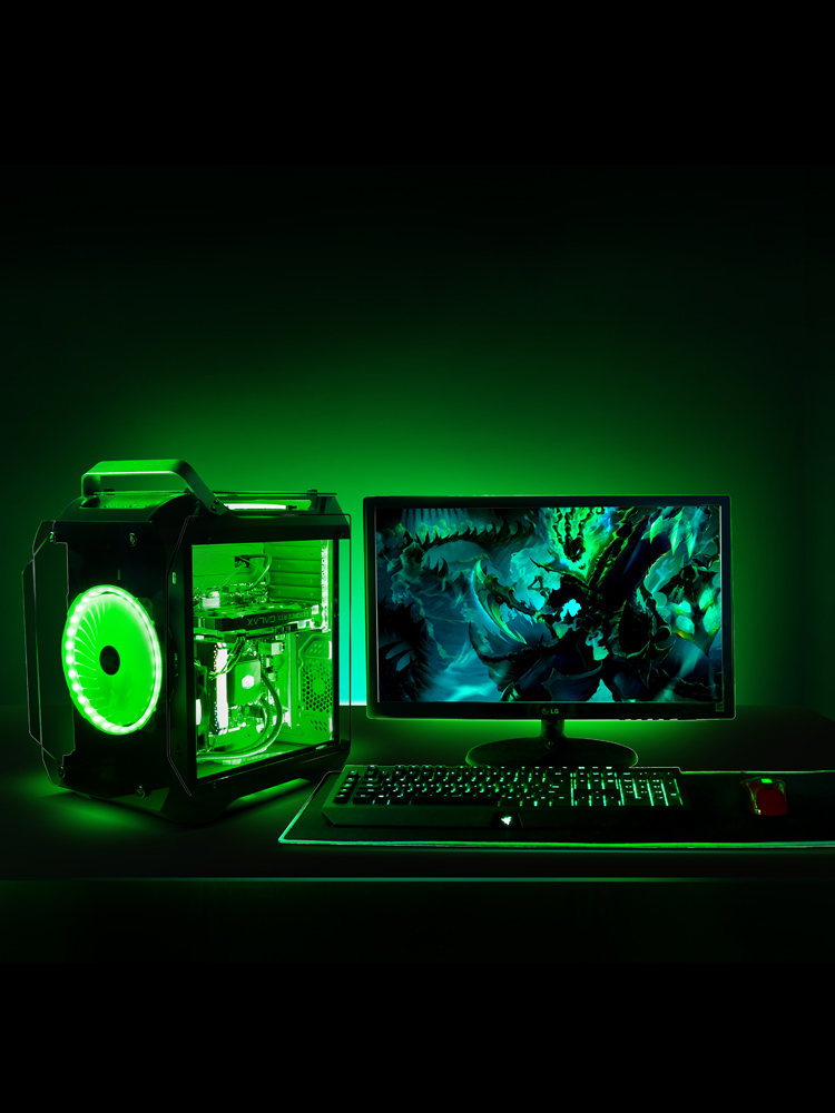 M-ATX Micro-ATX Desktop Gaming Cases Support ITX Motherboard Tempered Glass Transparent Computer Cases With 120mm Water Cooling 1