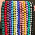 Natural Stone Beads Black Lava Hematite Round Beads For Jewelry Making Volcanic Rock Beads DIY Bracelet Ear Studs 15''4 6 8 10mm
