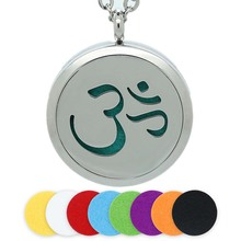 BOFEE Perfume Essential Oil Diffuser Locket Aromatherapy Pendant Necklace Sport Yoga Freshener Stainless Steel Jewelry
