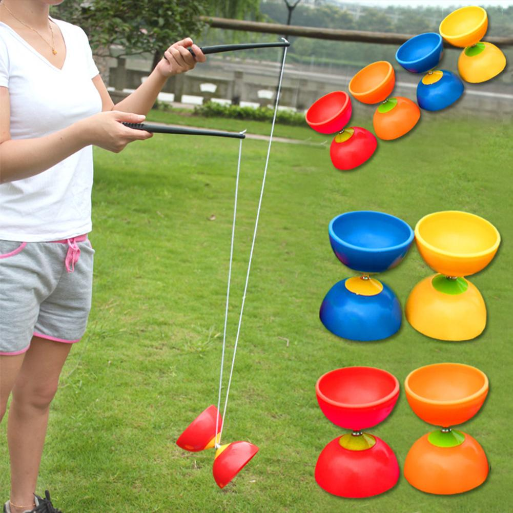 Funny Chinese YOYO 3 Bearing Diabolo Set Metal Sticks Bag Toys Interactive Games For Kids Children Adult Elderly People Toys