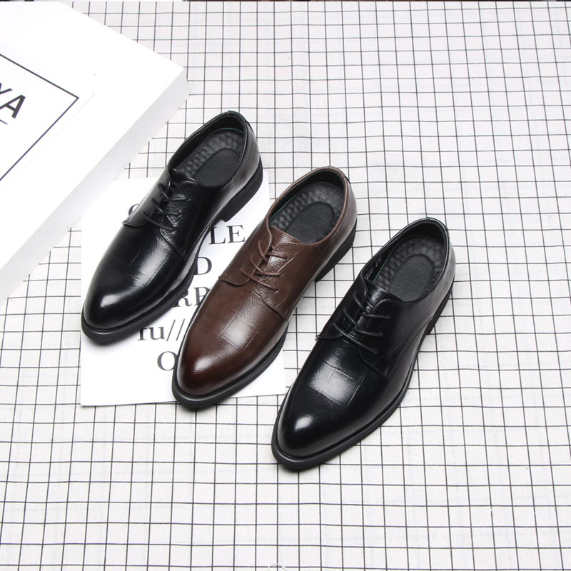 Image 2 - 37 44 mens formal shoes business comfortable Stylish Gentleman's formal shoes men #2033-in Formal Shoes from Shoes
