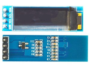 0.91 inch 4PIN White/Blue/Yellow OLED Screen with Adapter Board SSD1306 Drive IC 128*32 I2C Interface 3.3-5V