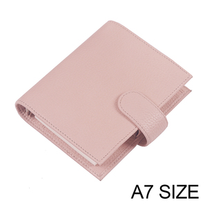 Moterm Litchi Grain Leather Regular Pocket Rings Planner A7 Ring Notebook Mini Agenda Organizer Cowhide Diary Journal Sketchbook