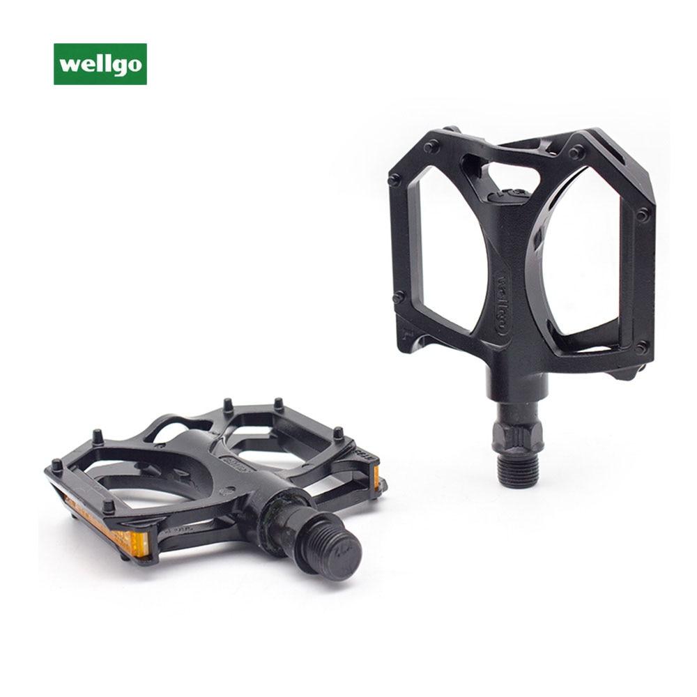 Wellgo M195 Road MTB Mountain Bike Pedal DU Bearing Platform Pedals w// refector