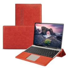 цена на For Huawei Matebook D 15.6 inch Case PU Leather Laptop Sleeve Full Angle Guard Stand Protective Case For Huawei Matebook D 15.6