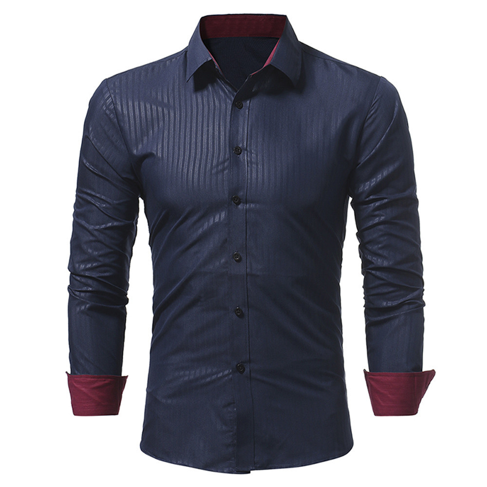 2020 Men's Shirt Fashion Solid Color Soft And Comfortable Men's Casual Long-sleeved Shirt