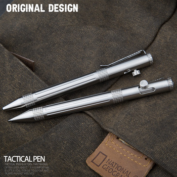 Self Defense Stainless Steel Tactical Pen Bolt Switch Emergency Glass Breaker Outdoor Survival Protector EDC Tool Gift