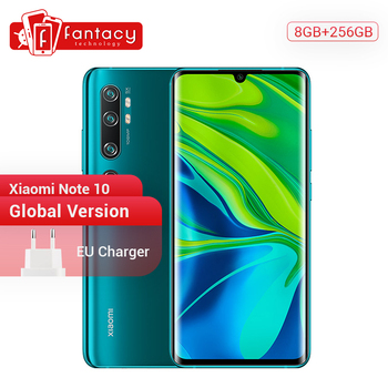 Global Version Xiaomi Mi Note 10 8GB RAM 256GB ROM 108MP Penta Camera Snapdragon 730G Octa-core Cellphone 6.47'' Curved Screen