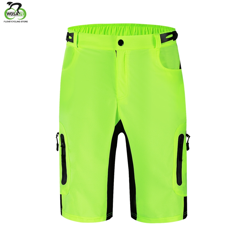 WOSAWE Men 39 s MTB Shorts Outdoor Motocross Bike Short Pant Breathable Loose Fit For Running Bicycle Cycling Shorts Ciclismo in Cycling Shorts from Sports amp Entertainment