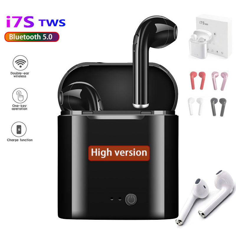 High Version I7S TWS Bluetooth 5.0 Wireless  Earphones  Active Noise Cancelling Earbuds Mini Stereo Bass Sports Running  Headset