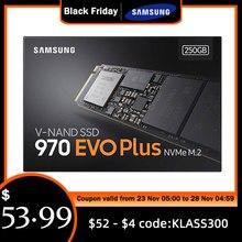 SAMSUNG SSD M.2 1TB 250GB 500GB 970 EVO artı NVMe dahili katı hal sürücü sabit Disk M2 2280 TLC PCIe Gen 3.0x4, NVMe 1.3