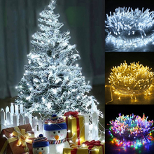 Christmas Tree Decorations Lights Outdoor Waterproof LED Holiday String lights for Christmas Festival Fairy Wedding Garland