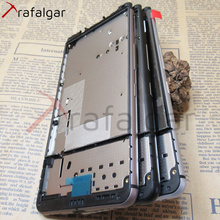 Screen Supporting Frame For BlackBerry Dtek70 Keyone Front Frame Mid Frame Bezel Housing With Power Volume Side Buttons Replace