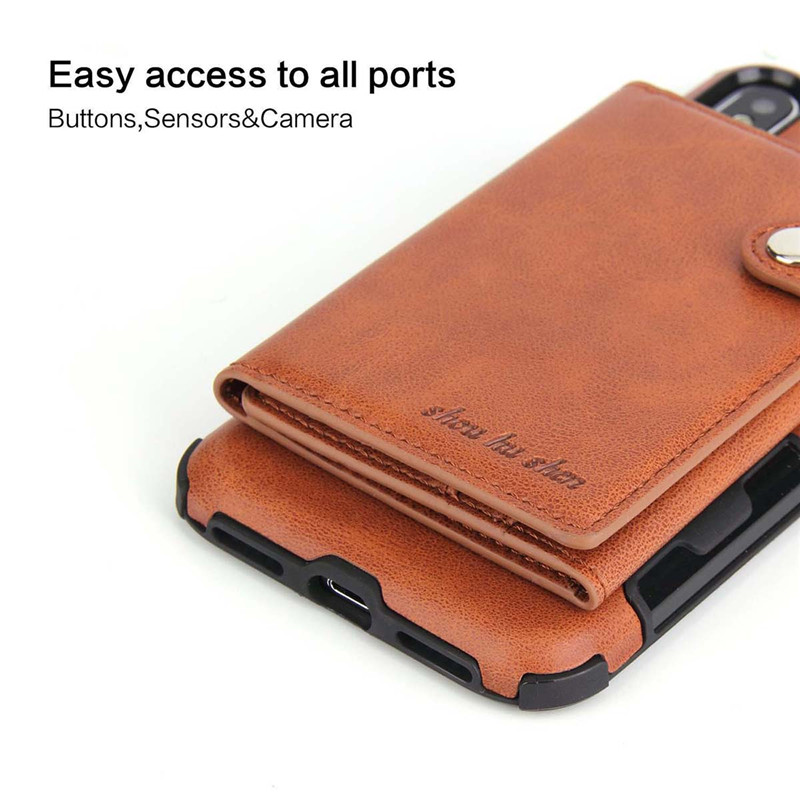 H88e7c7ac4a1141c09eceb0fe2ba57676W Tikitaka Wallet Leather Phone Case For iPhone 6 6s Plus X XS XR Multifunction Card Slots Flip Cover For iPhone XS MAX 8 8 Plus