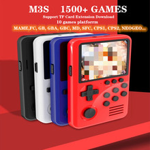 M3S Mini Handheld Game Players 16 bit Retro Gaming Console USB Charging Smart Handheld Video Game with 4G Games Card for Kids