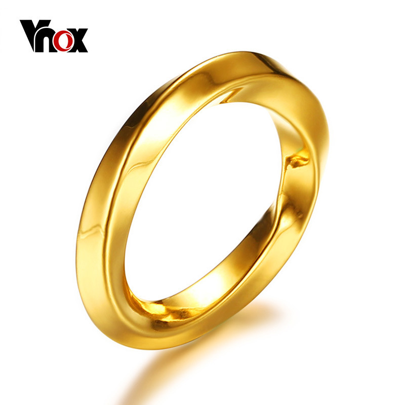 Stainless Steel Gold Color Plated Dot Section Flat Band Ring