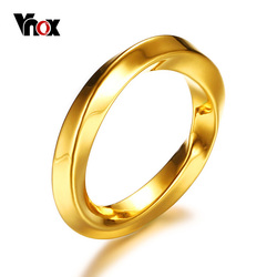 Vnox Unique Engagement Rings for Women Gold Color Stainless Steel Irregular Female Carnival Party Gift Ring Jewelry