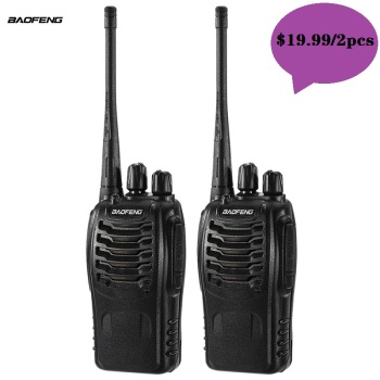 2Pcs Hf Portable Sets Cb Radio Walkie Talkie Pair For Police Equipment Scanner Bao Feng baofeng Bf 888s Walky Talky Professional - discount item  42% OFF Walkie Talkie