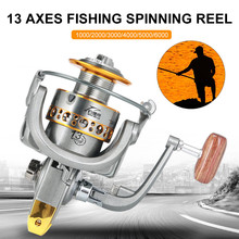 Fishing Reel 13BB Fishing coil Wooden handshake Spinning Wheel Metal Road Spool Gear Fishing Wheel Left/Right Hand Fishing Reel sougayilang feeder spinning fishing reel china left right reel fishing gear coil 12 1 ball bearing metal sea fishing reel peche