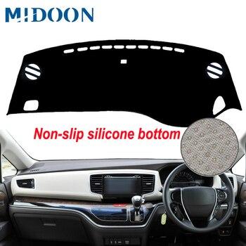 MIDOON 자동차 내부 대시 보드 커버 Dashmat Pad 카펫 대시 매트 cape For Honda Odyssey 2015 2016 2017 2018 2019 International RHD