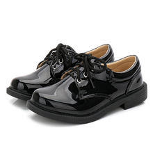 New Boys shoes black patent leather shoes British wind 2019