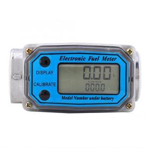Image 3 - Ferramentas líquidas da medida do fluxo de água do contador do sensor do indicador do npt do verificador de combustível 15 120l da turbina digital para o fluxo de combustível