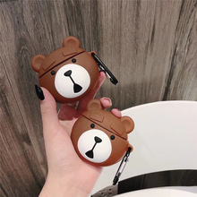Cartoon tide silicone cover for iphone airpods case wireless bluetooth earphone cute animal jelly air pod charging headset pouch