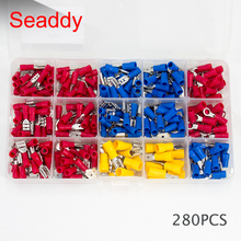 2.8mm /4.8mm/6.3mm Male / Female Insulated Terminals + Crimp Spade Wire Connector 280pcs / set