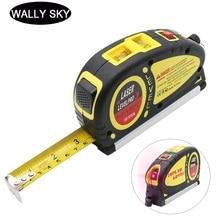 цены Laser Level Scale 18F 5.5m Tape Measure Infrared Level Ruler Measuring Equipment 2 Way Bubbles Laser Levels Vertical Measurement