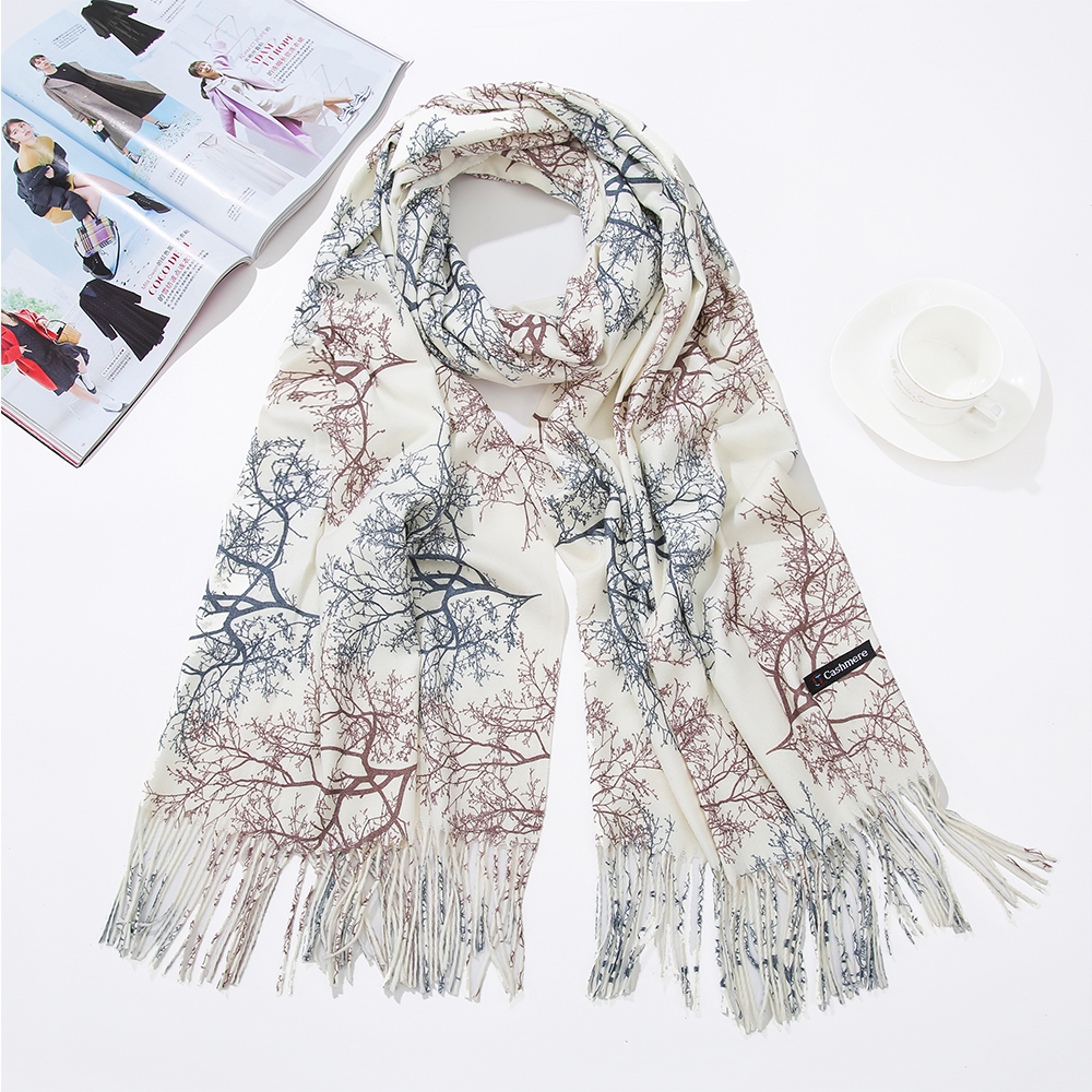 CZHCQQ High Quality Women Fashion Printing Scarf with Tassel Lady Winter Autumn Long Scarf  Luxury Brand Hot Sale Men Shawl|Women